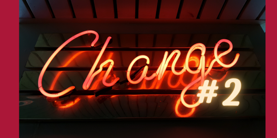 Image of 'Change' written in lights