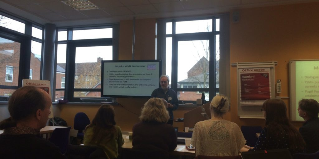 Michael Davidson give a presentation on MusicNet East's work at the 2nd International Symposium on Community Music