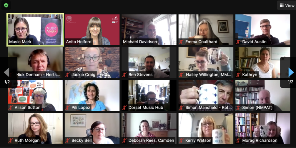 20 people on a Zoom call