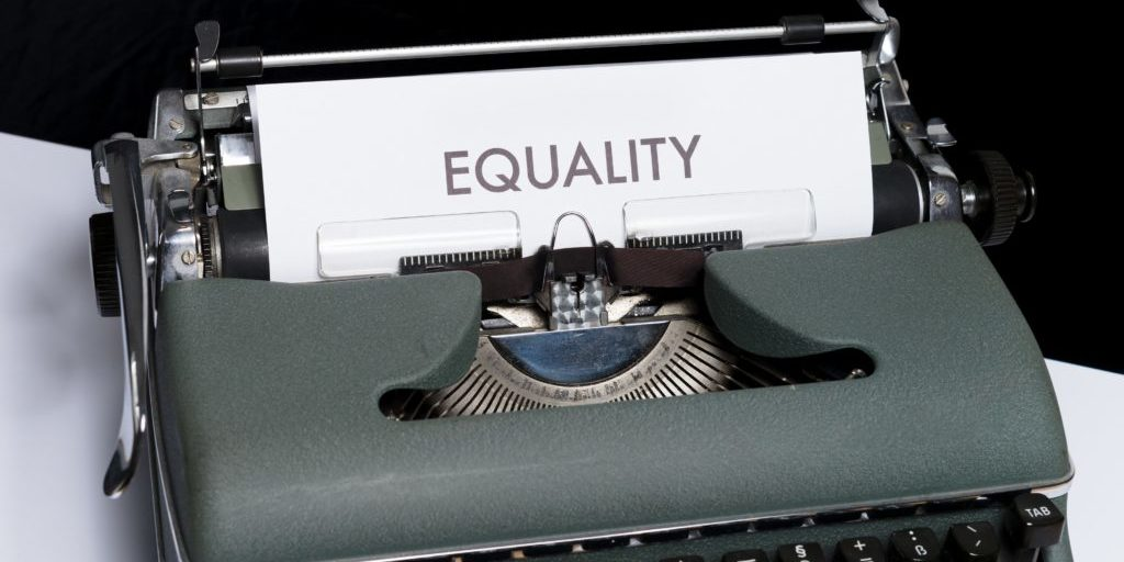 Typewriter - equality written on page